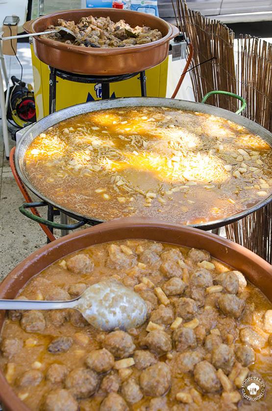 Una muestra de la comida que hacían en la Fira.