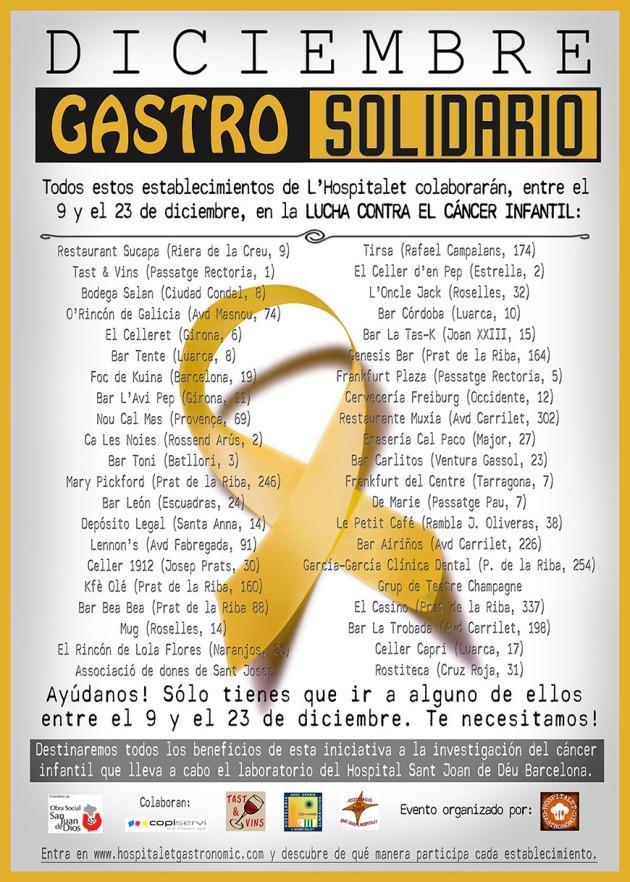 Cartel del evento GastroSolidario de diciembre.